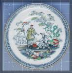 Click here to enlarge image and see more about item 1029200510: Oriental plate, Chinoiserie B & H Pekin 1980's