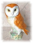 Click to view larger image of PORCELAIN OWL BESWICK - ENGLAND - 1046..... (Image1)