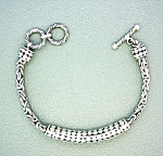 Sterling Silver Designer Look Toggle Bracelet