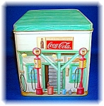 Click to view larger image of COCA COLA COLLECTABLE TIN CANISTER (Image1)