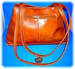 Click to view larger image of VINTAGE AMERICAN ANGEL LEATHER HANDBAG PURSE (Image1)