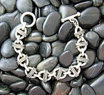 Click to view larger image of Sterling Silver Bracelet Toggle Clasp 8 1/2 Inch (Image1)