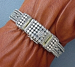 Click to view larger image of Sterling SilverDesigner look Bracelet 8 Inch 86.1 grams (Image1)