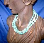 Click to view larger image of Sterling Silver Turquoise 3 Strand Necklace By EX EX (Image3)
