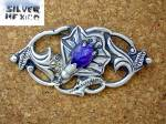 Click to view larger image of Silver Mexico Amethyst Lily Brooch (Image3)