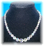 Click to view larger image of Cut Crystal Borealis Graduated Necklace (Image1)