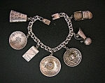 Click to view larger image of Taxco Mexico YM Charm 40s Vintage 7 CharmBracelet (Image1)