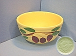 Click here to enlarge image and see more about item 1101200804: Watt Ovenware ribbed apple bowl #05