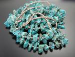Click to view larger image of Necklace Turquoise Heishi 2 Strand Santo Domingo USA (Image2)