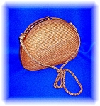 Click here to enlarge image and see more about item 1103200604: Vintage MAJID Straw Evening Bag