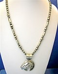 Necklace Sterling Silver MARY JACKSON Bear 23 Inch bead