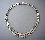 Necklace Taxco Mexico Sterling Silver Collar TJ-21