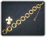 Click here to enlarge image and see more about item 11042006118: VENDOME Goldtone Original Label Bracelet