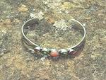 Click to view larger image of Bracelet Sterling Silver Coral Peridot Tourmaline FEENE (Image2)
