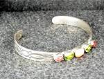 Click to view larger image of Bracelet Sterling Silver Coral Peridot Tourmaline FEENE (Image3)