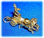 Click to view larger image of Silver 800 Gold Wash Ben Hur Chariot Charm (Image1)