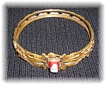 Antique Cameo Gold Plate bangle bracelet