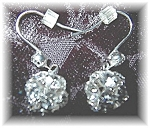 Click to view larger image of Sterling Silver & Crystal Dangly Earrings (Image1)