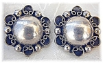 Earrings Sterling Silver  Mexico Clips