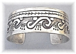 Click to view larger image of Sterling Silver Native American Cuff Bracelet USA (Image1)