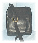 Click to view larger image of Black Leather Over The Shoulder FOSSIL Bag (Image1)