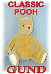 Click here to enlarge image and see more about item 1107200474: Large GUND Winnie The Poo Bear