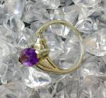 Click to view larger image of Sterling Silver Marquise Amethyst Ring Thailand (Image5)