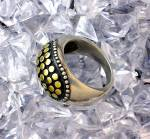 Click to view larger image of Ring Sterling Silver Gold John Hardy Style   (Image1)