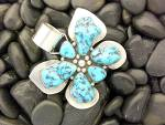 Click to view larger image of Pendant Sterling Silver Turquoise RAY BENNETT (Image2)