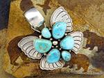 Click to view larger image of Carico lake Turquoise D. Livingston Sterling Silver USA (Image2)