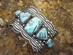 Click to view larger image of ANDY CADMAN Sterling Silver Turquoise Bracelet (Image1)