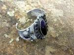 Click to view larger image of Navajo Kirk Smith  Charoite Sterling Silver Cuff (Image8)