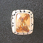 Citrine Sterling Silver Designer Ring