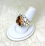 Citrine and Sterling Silver Designer Ring