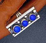 Click to view larger image of Lapis and Sterling Silver Ring (Image1)