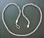 Necklace Sterling Silver Bizantine 18 Inch Chain