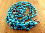 Click to view larger image of GUNDI Sleeping BeautyTurquoise 3 Strands Necklace  (Image1)