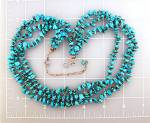 Click to view larger image of Sleeping Beauty Turquoise GUNDI  Sterling Silver Neckla (Image4)