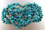 Click to view larger image of Sleeping Beauty Turquoise GUNDI  Sterling Silver Neckla (Image6)