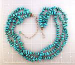 Click to view larger image of Sleeping Beauty Turquoise GUNDI  Sterling Silver Neckla (Image7)