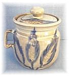 Click to view larger image of Stoneware Sugar Blue Corn Design Jar (Image1)