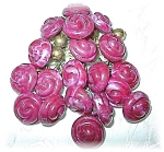 Click to view larger image of Unique Handmade Cranberry Button Brooch (Image1)