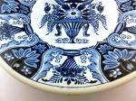Click to view larger image of Delft Holland decorative plate Flower Basket (Image4)
