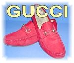 Click here to enlarge image and see more about item 1115200502: Gucci Red Suede  Shoes Italy