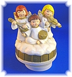 Click here to enlarge image and see more about item 1116200601: ANGELS REVOLVING MUSIC BOX BY COLONIAL CANDLE.....