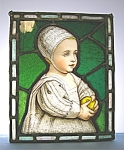 Click here to enlarge image and see more about item 11162007339: Stained glass Artist Made AVD Van Dyke Copy Baby Stuart