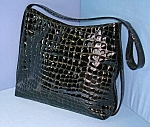 BRUNO MAGLI Italy Black Patent Leather Purse Bag