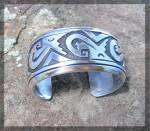Click to view larger image of TOMMY SINGER Native American Sterling Silver Cuff (Image4)