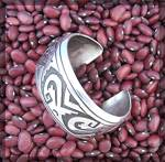 Click to view larger image of TOMMY SINGER Native American Sterling Silver Cuff (Image5)