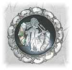 Click to view larger image of STERLING SILVER BLACK ONYX MOTHER OF PEARL... (Image1)